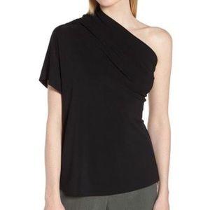 Lewit black one shoulder shirt sleeve